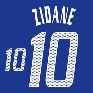 Zidane 10. France Home football shirt 2002 - 2004 FLEX NAMESET NAME SET