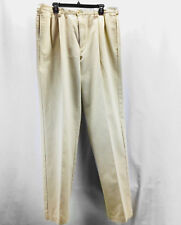 Tommy Hilfiger Mens Size 38X34 KhakiI/Tan Pleated Dress Golf Pants Trousers