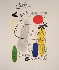 JOAN MIRO HAND SIGNED SIGNATURE * SCULPTURES - ART GRAPHIQUE * PRINT W/ C.O.A.