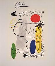 JOAN MIRO HAND SIGNED SIGNATURE * SCULPTURES - ART GRAPHIQUE * PRINT W/ C.O.A.
