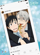 Yuri On Ice Yuri and Victor Social Media Wall Scroll Poster  NEW