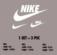 GLOW IN THE DARK Nike Iron-On Sports LOGO DIY T-Shirt Clothing Transfer Sticker