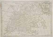 1765 ANTIGUO MAPA ~ EUROPA GREAT BRITAIN FRANCIA POLONIA TURQUÍA ESPAÑA