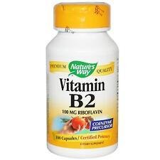 La vitamina B2 (riboflavina) -100 - 100mg Capsule by Nature'S WAY-CERTIFICATO POTENZA