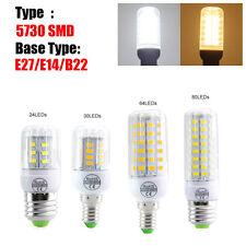 5730 5736 B22 E27 E14 LED Corn Bulbs Lamps Light Warm Cool Natural White