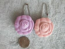 Mini Rose Lip Balm or Eyeshadow Mirror Keychain Compact 35mm