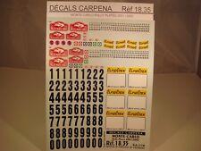 DECALS 1/18 PLAQUES RALLYE DE MONTE CARLO 2001 et 2002 - CARPENA  1835