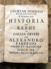 1671 First Edition DONDINI - HISTORIA de REBUS in GALLIA GESTIS w/ ALL 5 PLATES