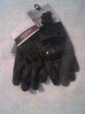 MEDIUM LEATHER race GLOVES BLACKw studs&carbon knuckles