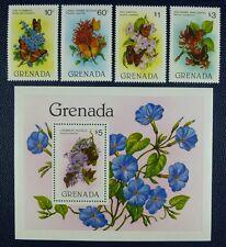 Grenada 1982 Schmetterlinge Butterflies Papillon Farfalla 1144-47 Block 104 MNH