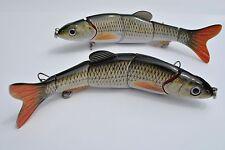 2 Multi Jointed 5-Section Fishing Swimbait Crankbait Bass Lure - Golden Shiner