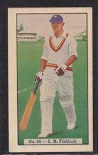 Allen's Cricketer 1938 No.34 L.B. Fishlock- Surrey - Cure-em-Quick