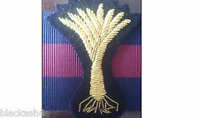 Welsh Guards Officers Embroidered Cap Badge & Backing