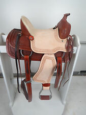 "12"" New Western Leather Youth Child Horse Pony Ranch Saddle with Girth"