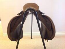 "Symonds 17.5"" M adjustable SJ Event Havana Brown English Leather Saddle"
