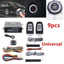 PKE Car Alarm System Passive Keyless Entry Push Button Remote Engine Control Kit