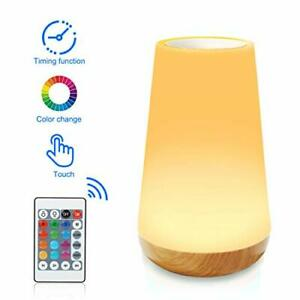 Aisuo Led Night Light, Remote and Touch Control Bedside Lamp with 13 Colors,