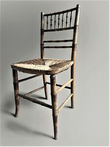 Regency Painted Faux Bamboo Side Chair