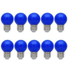 10er E27 Farbig Glühlampen Bunt Glühbirne Partybeleuchtung Dekoration Birne Blau