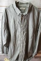 Turnbury Gray Stripe Long Sleeve XL 35 Men's Shirt