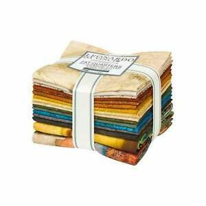 Leonardo da Vinci, Fat Quarters and Panels, 16pc, Quilt Fabric, FQ-1741-16, F29