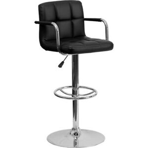 Flash Furniture Black Contemporary Barstool, Black - CH-102029-BK-GG
