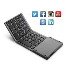 bluetooth Keyboard Touchpad Foldable Tri-fold Triple Wireless for iPad Phone PC
