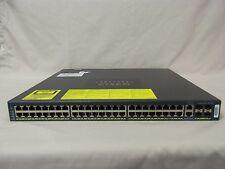 CISCO WS-C4948-E 48-Port Gigabit Layer 3 Switch entservices-15.0 ios 4948 E