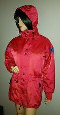COULOIR LADIES SNOWBOARD SKI JACKET ROSE RED FUCHSIA HOODED WINTER COAT 8 M