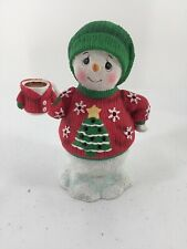 Precious Moments Snowman In Ugly Sweater Led Musical Jingle Bells Hand Painted