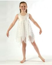 IN STOCK Pretty Angel Lyrical Dress Dance WHITE Sparkle Skirt Child Small 1