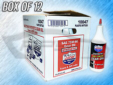 LUCAS 10047 SAE 75W-90 SYNTHETIC GEAR OIL, TRANS & DIFF LUBE - BOX OF 12 BOTTLES