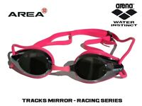 ARENA TRACKS RACING SWIMMING  GOGGLES, FUCHSIA / MIRRORED, TRAINING GOGGLE