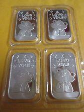 Love You Argent Ours 4 X 1 oz .999 Fine Lingot Barre