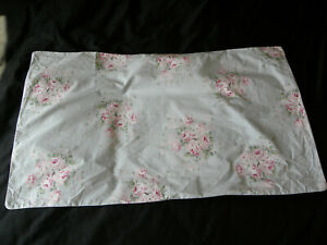 Simply Shabby Chic Bella Blue Rose Sprinkles Floral King Sham Pair Pink Green
