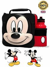 Micky Mouse 3D Lunch Bag Box and Bottle Set for School Kids Children New-UK