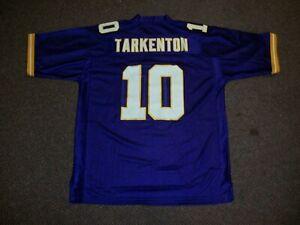 FRAN TARKENTON Unsigned Custom Purple Sewn New Football Jersey Sz S,M,L,XL,2X,3X