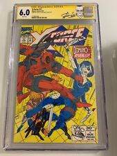 X-Force #11 CGC 6.0 SS STAN LEE ROB LIEFELD 1ST REAL DOMINO DEADPOOL