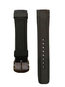 Zealande black rubber 20mm watch strap Omega Seamaster