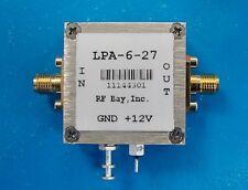 50-6000MHz Wideband RF Amplifier, LPA-6-27, New, SMA