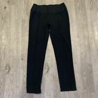 BCBG Maxazria Pants Women's Size S Stretch Waist Pull Up Black Casual Pleated