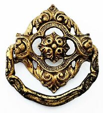 Brass Antique Hardware Drawer Pull Victorian French Country Provin Cabinet Knob