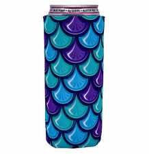 Fish Scale Pattern Slim Can Coolie; Compatible with Ultra