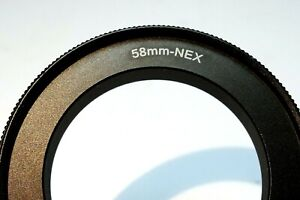 58mm Macro Close-Up Reverse Lens Adapter Ring For Sony E-Mount ILCE camera α6500