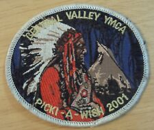 'CENTRAL VALLEY YMCA' 'Indian Chief' PATCH Picki-A-Wish 2001~