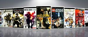 Replacement PlayStation PSP Titles J-P Covers and Cases. NO GAMES!
