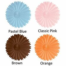 Lot of 4 Paper Tissue Fan Party Accessory (Assorted color)