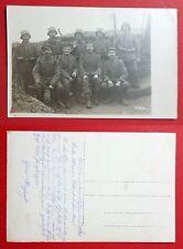 Militär Foto AK RUSSLAND 1. WK 1918 Deutsche Soldaten im Schützengraben  ( 29038