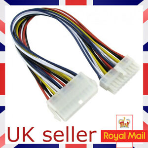 20 Pin Female to 20 Pin Male PSU Power Extension Cable 30cm ATX UK SELLER