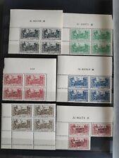 ALGERIE 1944 PALAIS ETE ALGER YT 200/4 + T27 BLOC 4 COIN DATE NSC N** LUXE